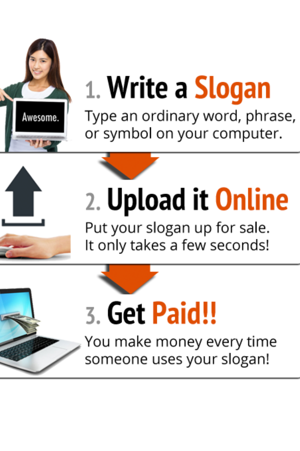 How to sell a slogan to a company, slogan seller review, slogan writing competition