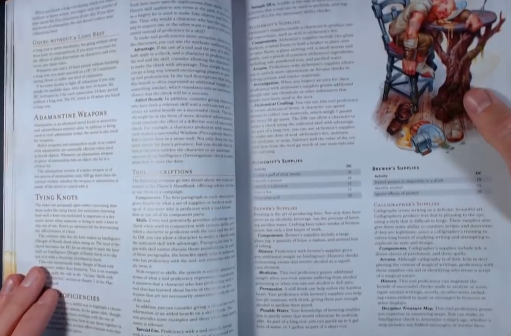 PHOTO OF TOOLS AND SKILL OF CHAPTER 2 OF XANATHAR GUIDE TO EVERYTHING: DUNGEON MASTER TOOL
