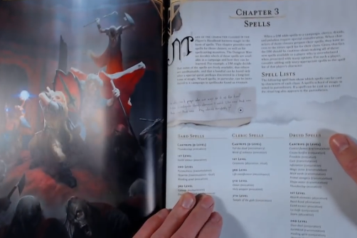 PHOTO OF CHAPTER 3 Spells of Xanathar guide to everything Xanathar 5e