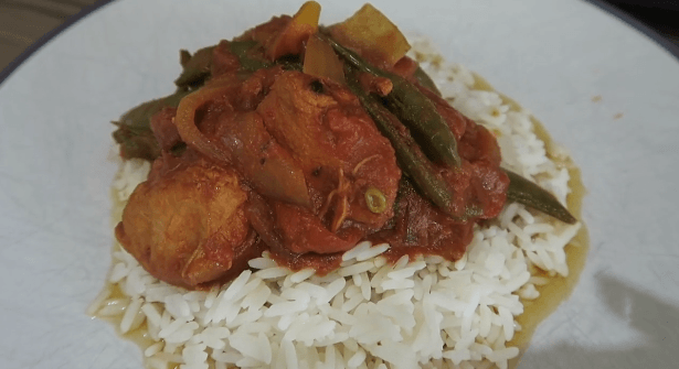 PHOTO OF SERVING THE SLIMMING WORLD DIET COKE CHICKEN RECIPE FOR WEIGHT WATCHERS WITH RICE
