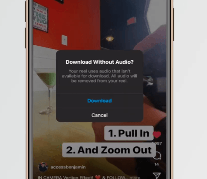 PHOTO OF DOWNLOADING VIDEOS FROM INSTAGRAM WITHOUT AUDIO