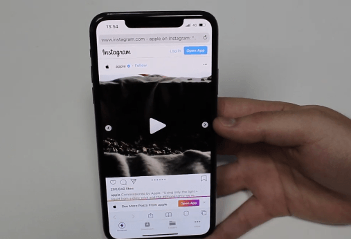 HOW TO DOWNLOAD INSTAGRAM VIDEOS ON IPHONE: PHOTO OF PLAYING THE VIDEO POST